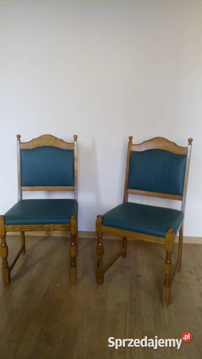 Krzesła tapicerowane 2 szt. Krzesło drewniane bdb, Meble