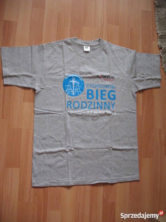 Koszulka bawełniana szara z nadrukiem Chorzów