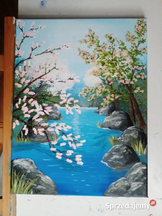 Obraz farby akrylowe na płótnie 30x40 cm wiosna