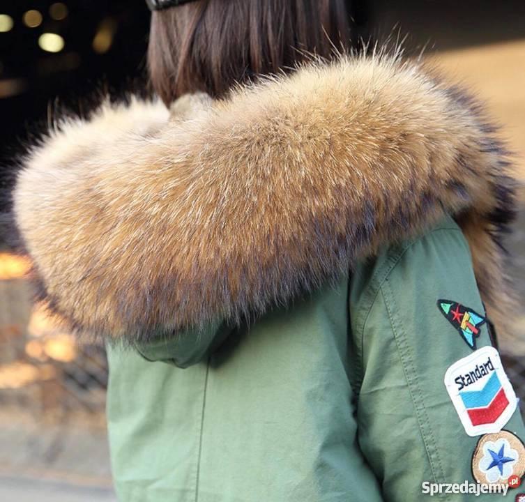 Zimowa damska puchowa kurtka z jenotem naturalnym 11 S L