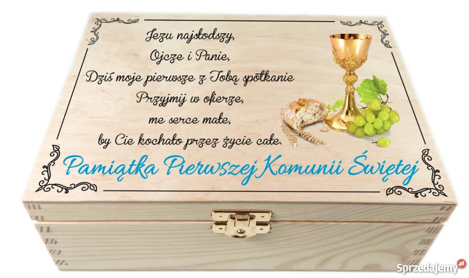 Szkatułka z zdjęciem Pamiątka pierwszej komunii Wałbrzych