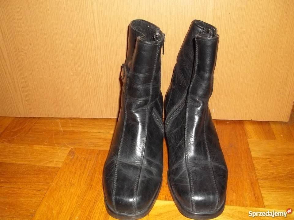 Krótkie kozaczki damskie skórzane roz.35 buty Łódź