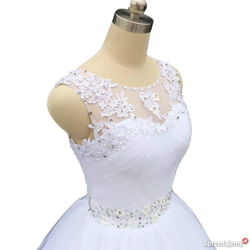 Suknia ślubna Princessa Koronka 34 36 38 40 42 44 46 Jelenia