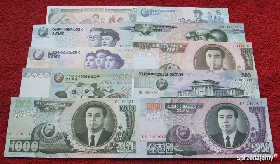 KOREA Kolekcjonerskie Banknoty Zestaw 10 sztuk Antyki, Sztuka, Kolekcje
