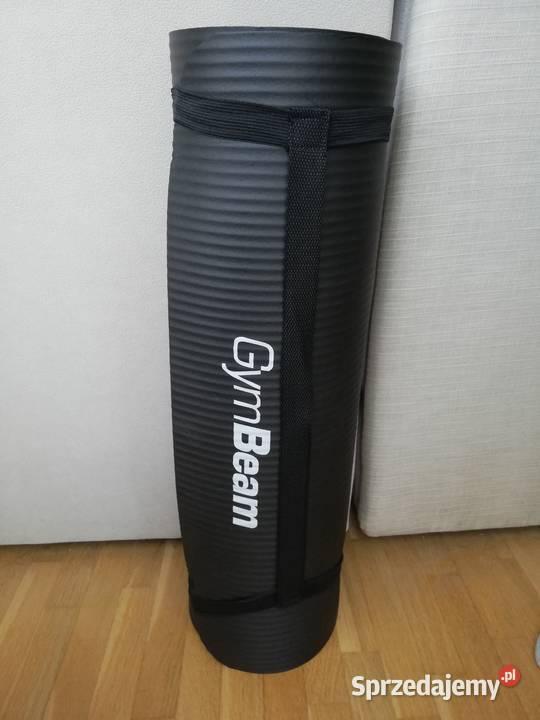 Mata do ćwiczeń GymBeam. Wymiary 180×61, grubość 1 cm.