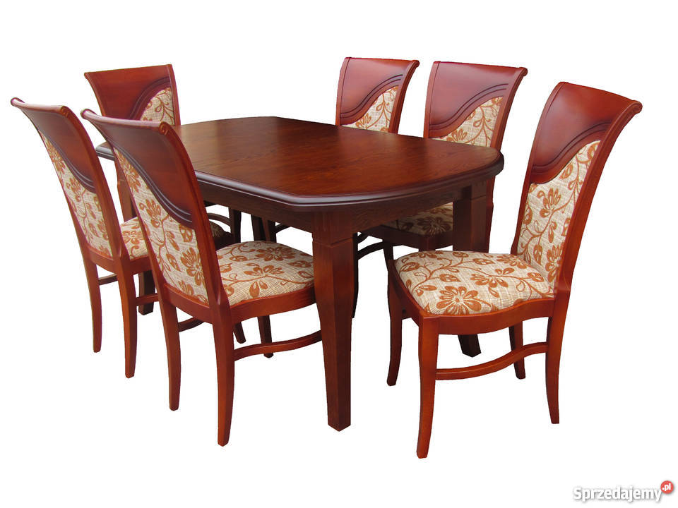 Piękne Modne Krzesła Stylowe Wygodne Drewniane Tapicerowane
