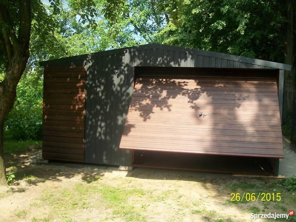 garaż blaszany 6x4 4x6 orzech złoty dąb Architektura ogrodowa Limanowa