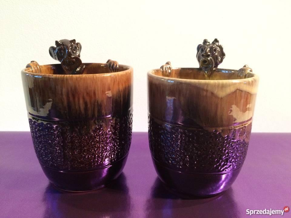 Ceramiczne naczynia z uchwytem w kształcie Warszawa sprzedam