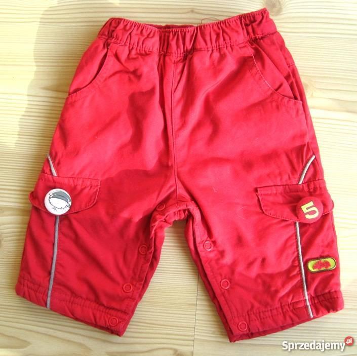 Spodnie niemowlęce czerwone chłopiec 3 6 uniseks Warszawa