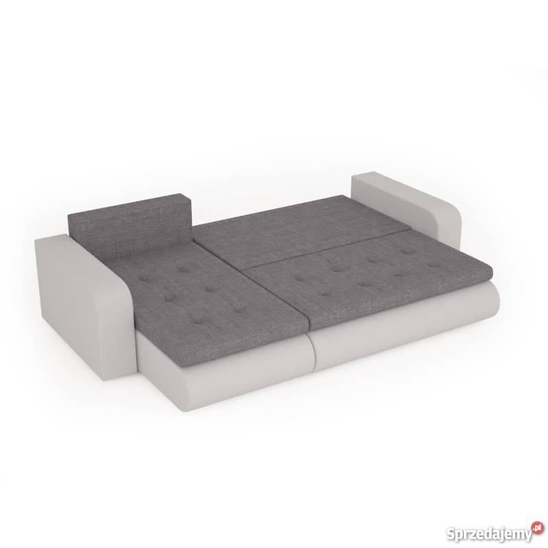 DOSTAWA Narożnik rozkładany rogówka kanapa łóżko biały
