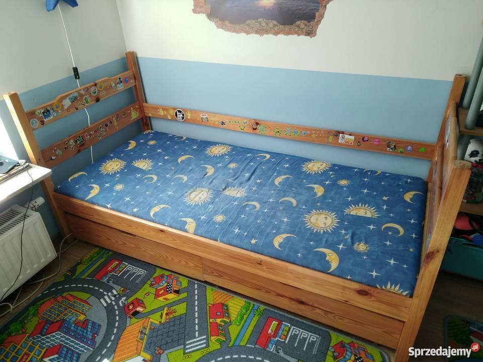łóżko Drewniane Z Materacem 80x180 Tanio