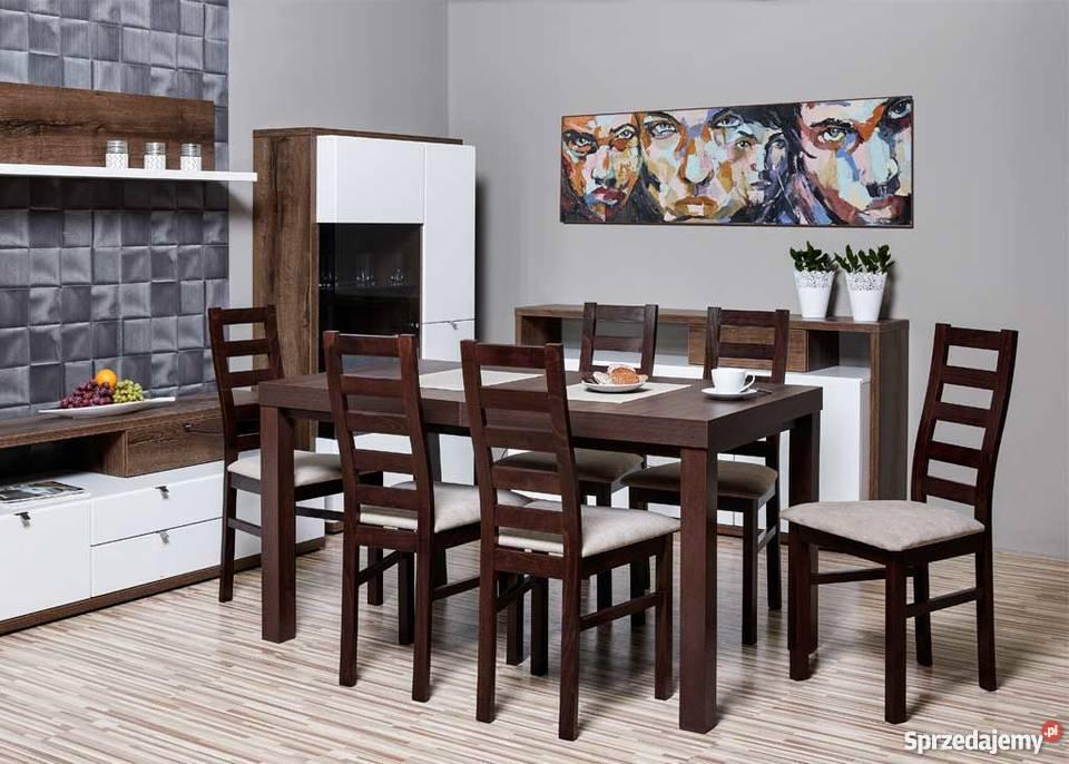 Zestaw,Stół 80/140/180 + 6 Krzeseł-Promocja !