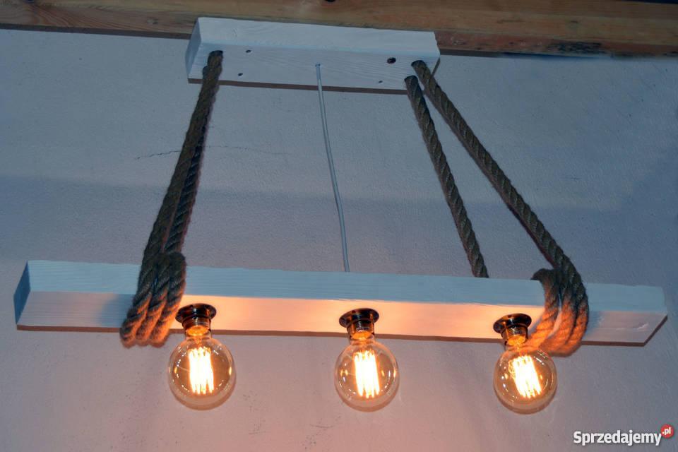 Lampa wisząca stara belka drewniana LOFT VINTAGE Oświetlenie zachodniopomorskie Szczecin
