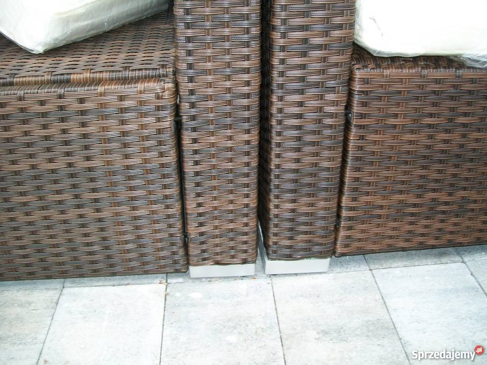 sofa fotel naroznik zestaw mebli technorattan metal małopolskie Bosutów sprzedam