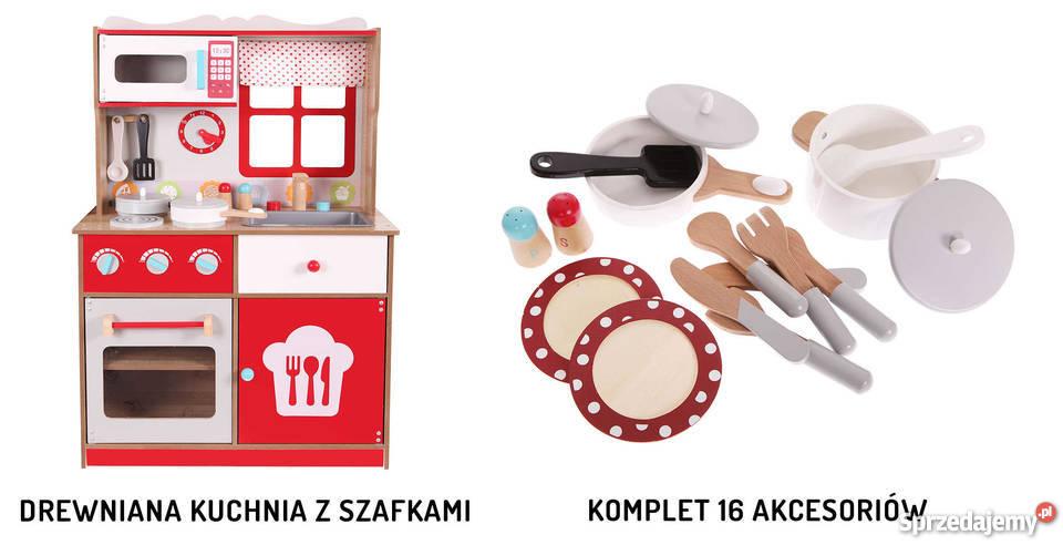 Kuchnia Drewniana Dla Dzieci Ecotoys Z Wyposażeniem