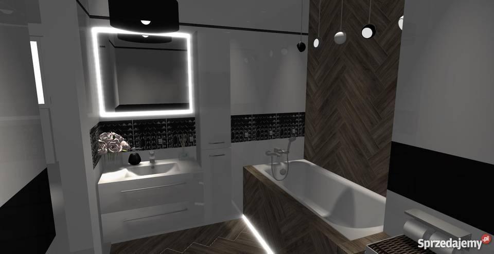 Projekt 3d Wizualizacja Lazienka Kuchnia Salon Gora Kalwaria