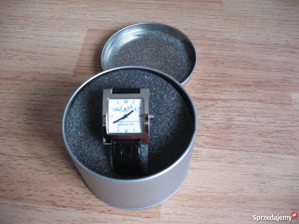 Unikatowy zegarek z logiem biegu na tarczy Chorzów sprzedam
