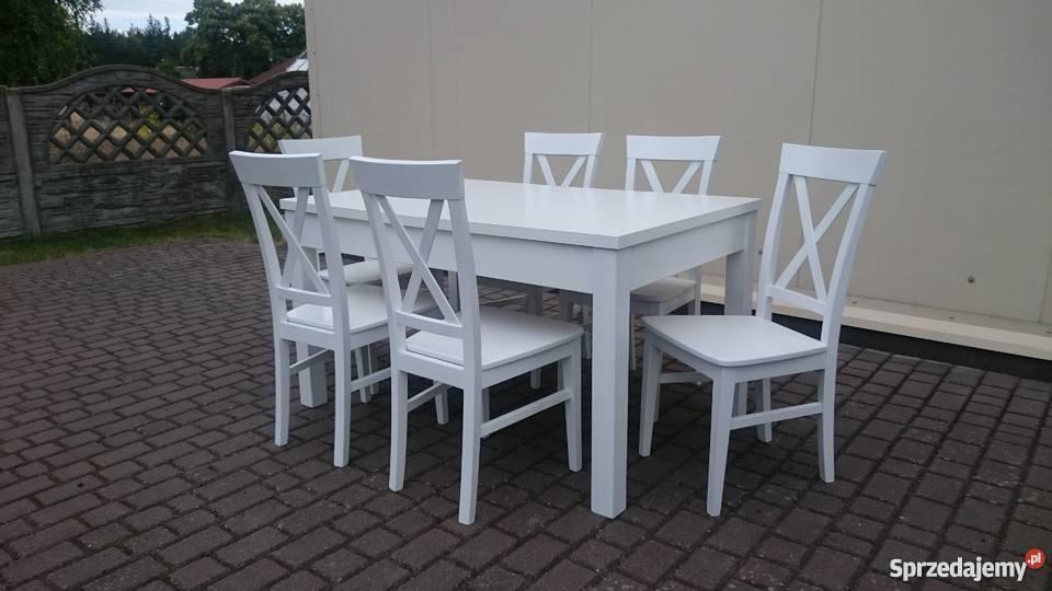Białe krzesło krzyżak krzyż do jadalni restauracji producent