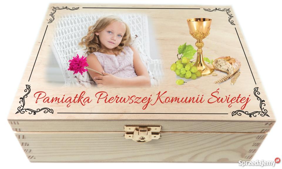 Szkatułka z zdjęciem Pamiątka pierwszej komunii Wałbrzych sprzedam