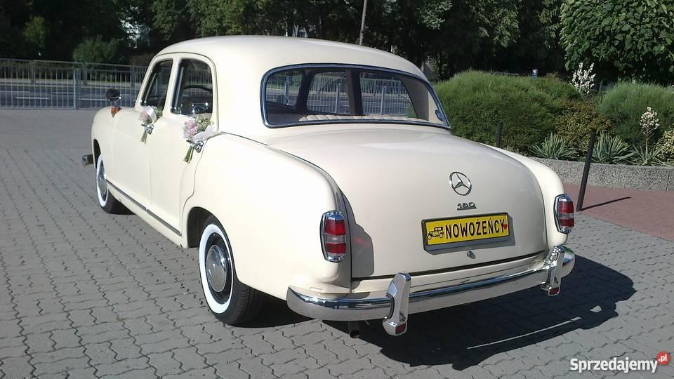 Zabytkowy Mercedes W120 z 1957 roku ślubywolne obsługa imprez