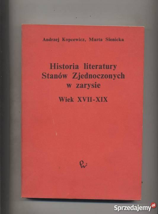 Historia literatury Stanów Zjednoczonych w Szczecin sprzedam