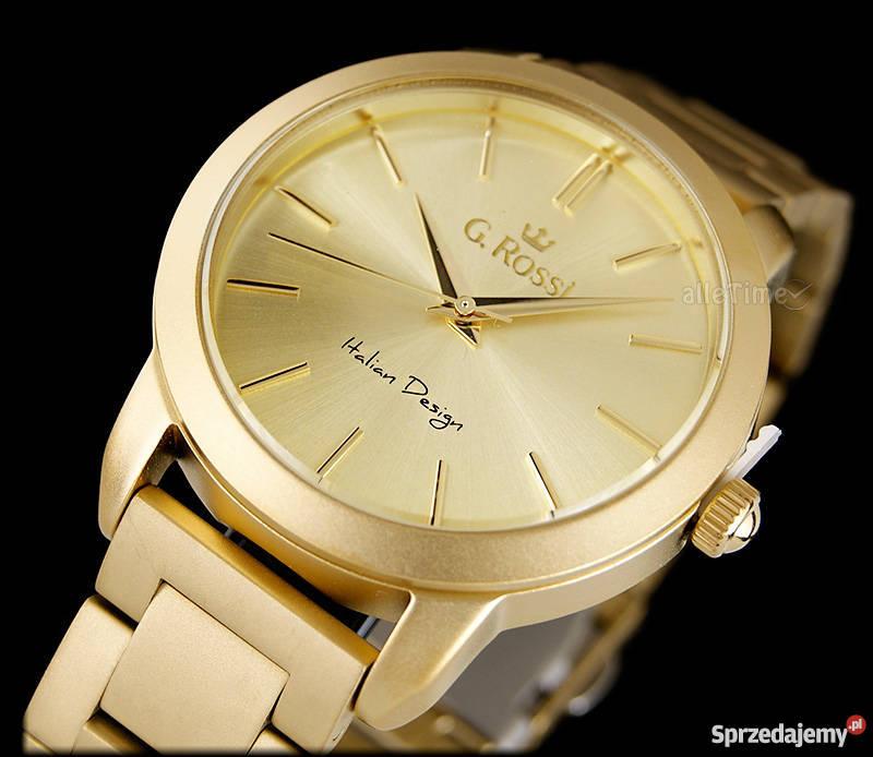 67a588e3a7c23 NOWY zegarek damski GINO ROSSI STIVA złoty Tychy - Sprzedajemy.pl