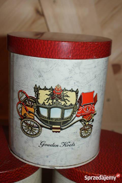 Dekoracyjna stara puszka kareta vintageretro Warszawa