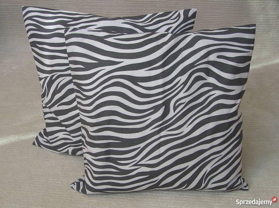 Poszewka Na Poduszkę Dekoracyjną 50x50 Cm Grafitowa Zebra
