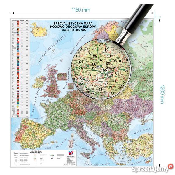 Suchoscieralna Mapa Europy Kodowo Drogowa Katowice Sprzedajemy Pl