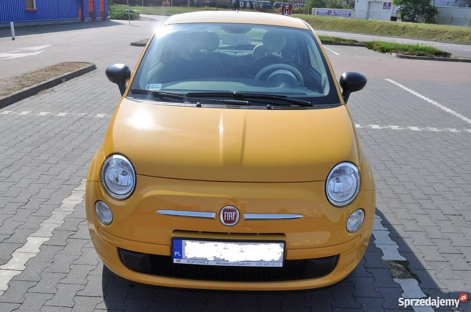 Zaawansowane Fiat 500 żółty POP - 2015 , 1100km. klimatyzacja, Poznań NU57