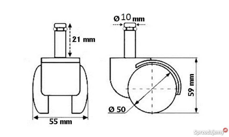 Do krzeseł IKEA kółka miękkie fi 10 Warszawa