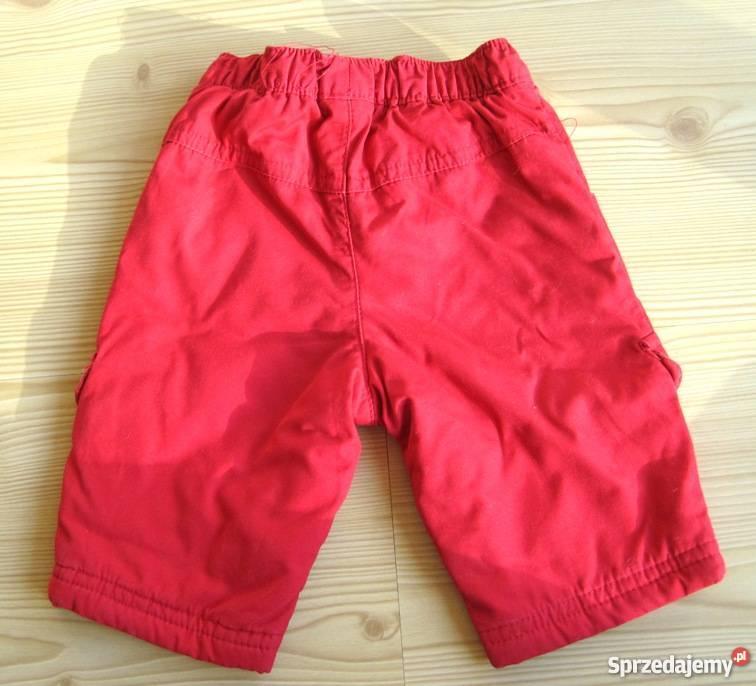 Spodnie niemowlęce czerwone chłopiec 3 6 Warszawa