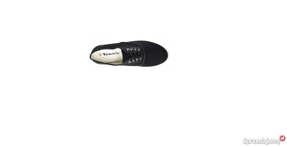 6f2f04711a93e8 Tamaris czarne trampki dwa różne rozmiary 38 39 Obuwie sportowe śląskie  Rybnik sprzedam