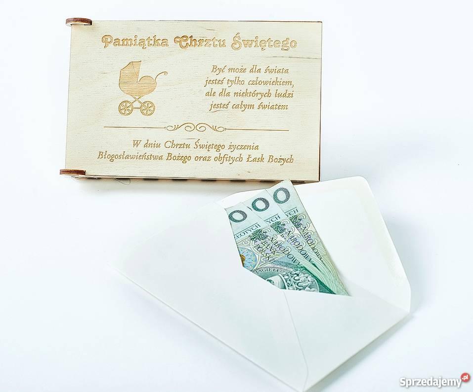 Pamiątka Chrztu Świętego pudełko na pieniądze Pozostałe Warszawa