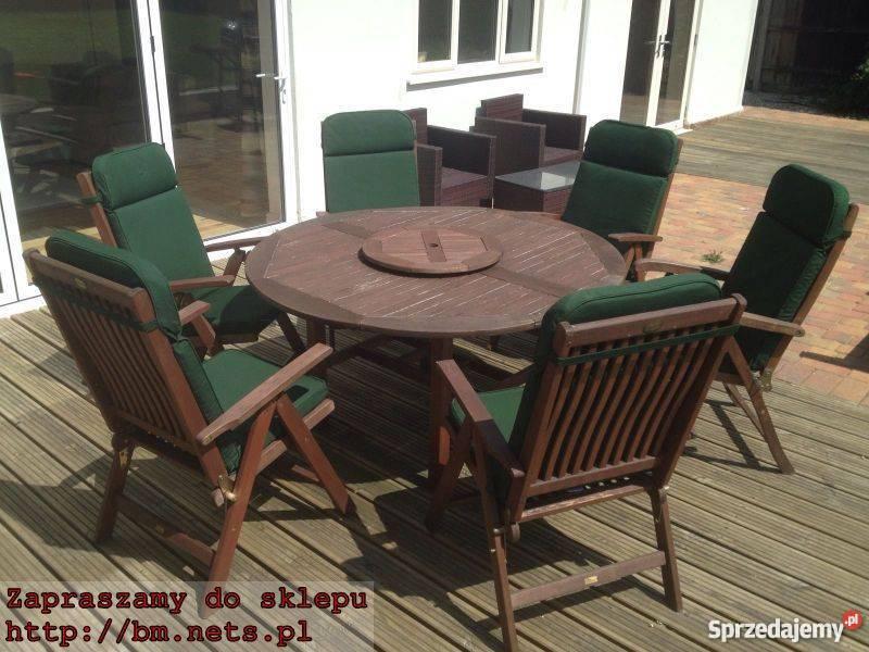 Meble Ogrodowe Stół Fotele Poduszki Piękny Zestaw