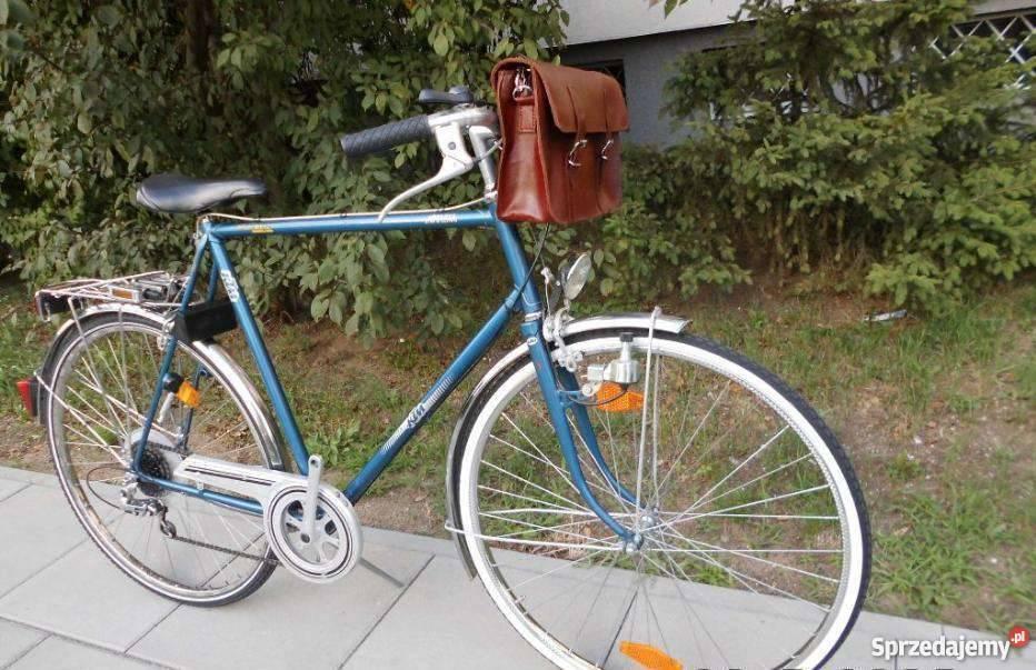 Torba skórzana do roweru to elegancja i szyk mazowieckie Warszawa sprzedam