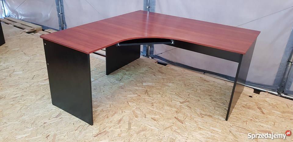W Mega biurko narożne mahoń- meble biurowe używane Poznań - Sprzedajemy.pl XQ18
