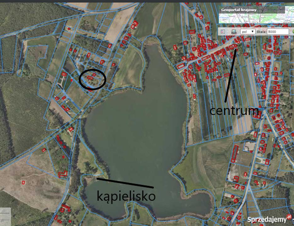 Łowyń działka budowlana z potencjałem okazja jezioro widoki