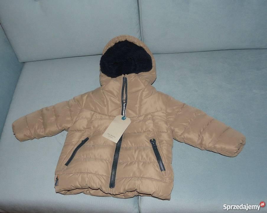 zara kurtka zimowa khaki chlopiec