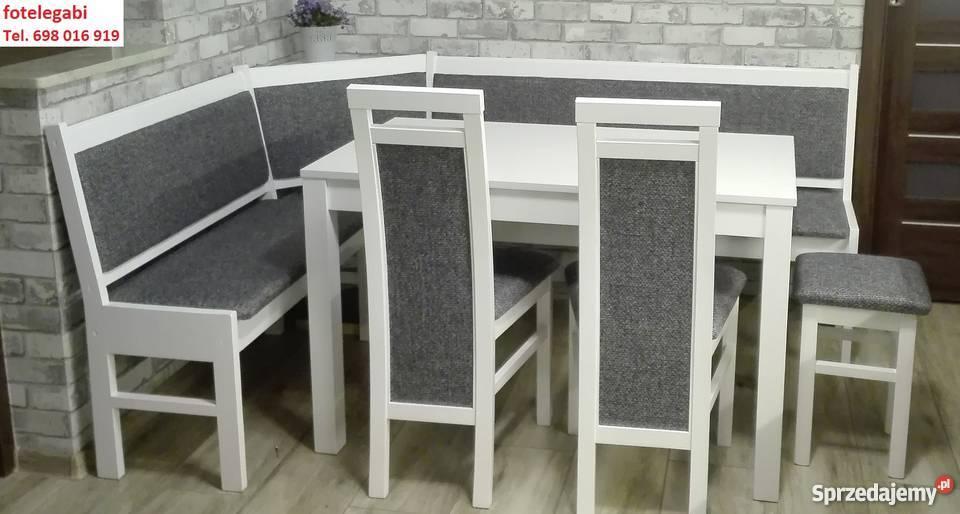 Zestaw kuchenny komplet narożnik stól krzesła