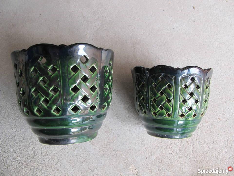 Donice Osłonki Ceramiczne Ażurowe Mała I Duża