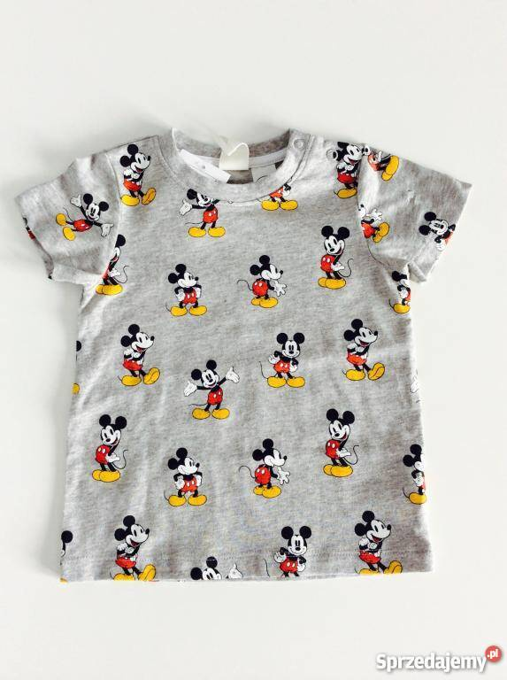 0e68db4c1 NOWA koszulka, T-shirt z metką, H&M Disney Myszka Miki 74 Warszawa ...