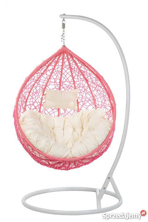 Fotel Wiszący Swing Kokon Hamak Różowy