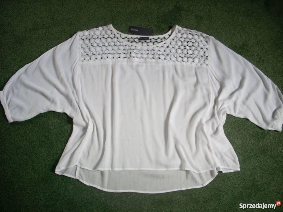 f5706f94babae6 CA bluzka koszula KORONKA karczki NOWA 44 46 XXL C&A Bluzki i koszule Nowy  Sącz
