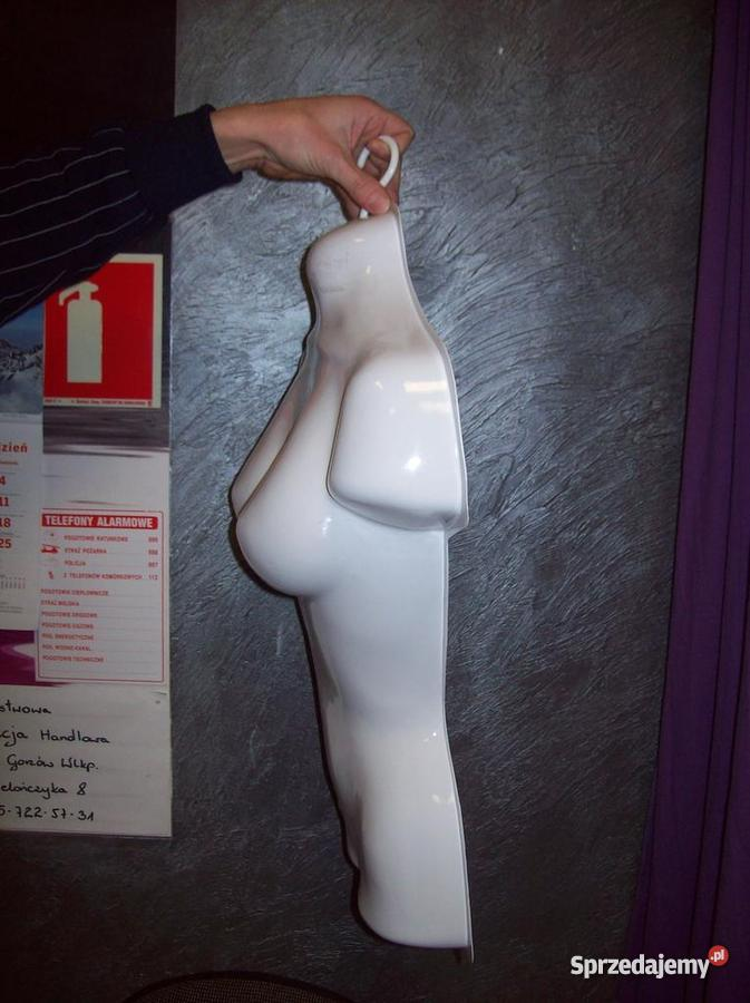 Manekin wystawowy wytłaczany wiszący tułów kobie lubuskie