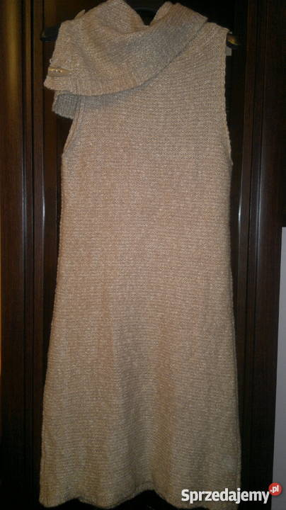 8039c0f0a6 NAFNAF dzianinowa sukienka w kolorze bezowym roz.S-PROMOCJA! Olsztyn ...