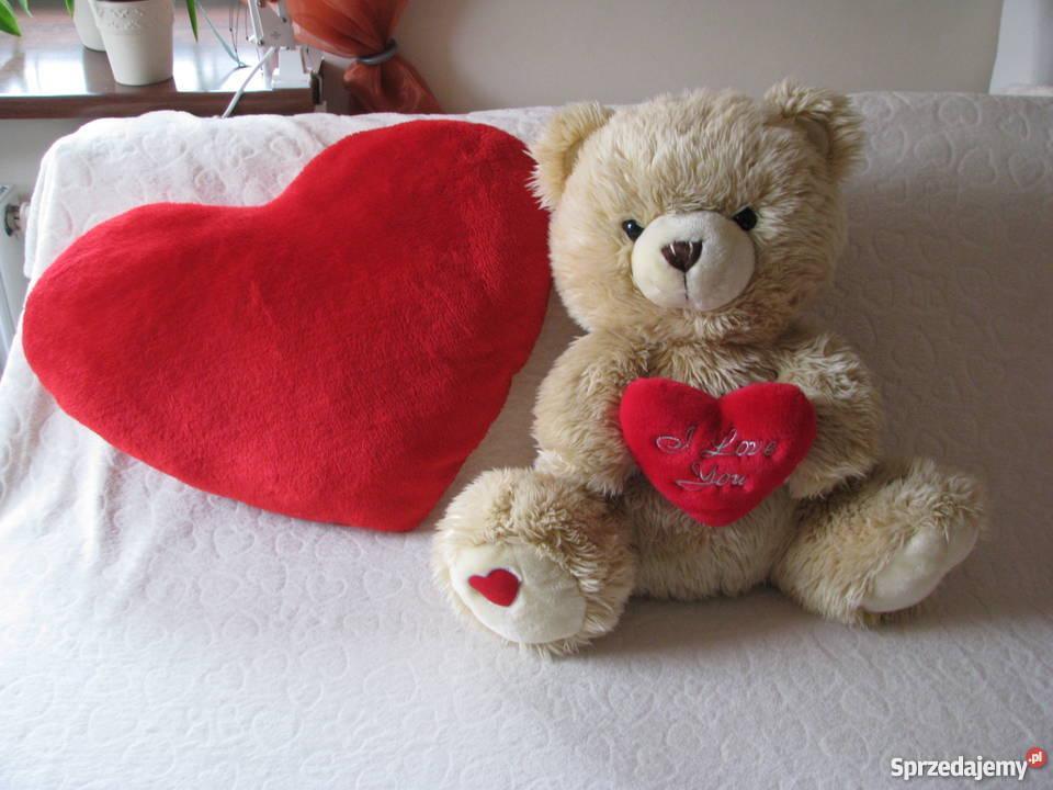 Poduszka Serce Na Walentynki Pluszowa Przytulanka 60x45cm