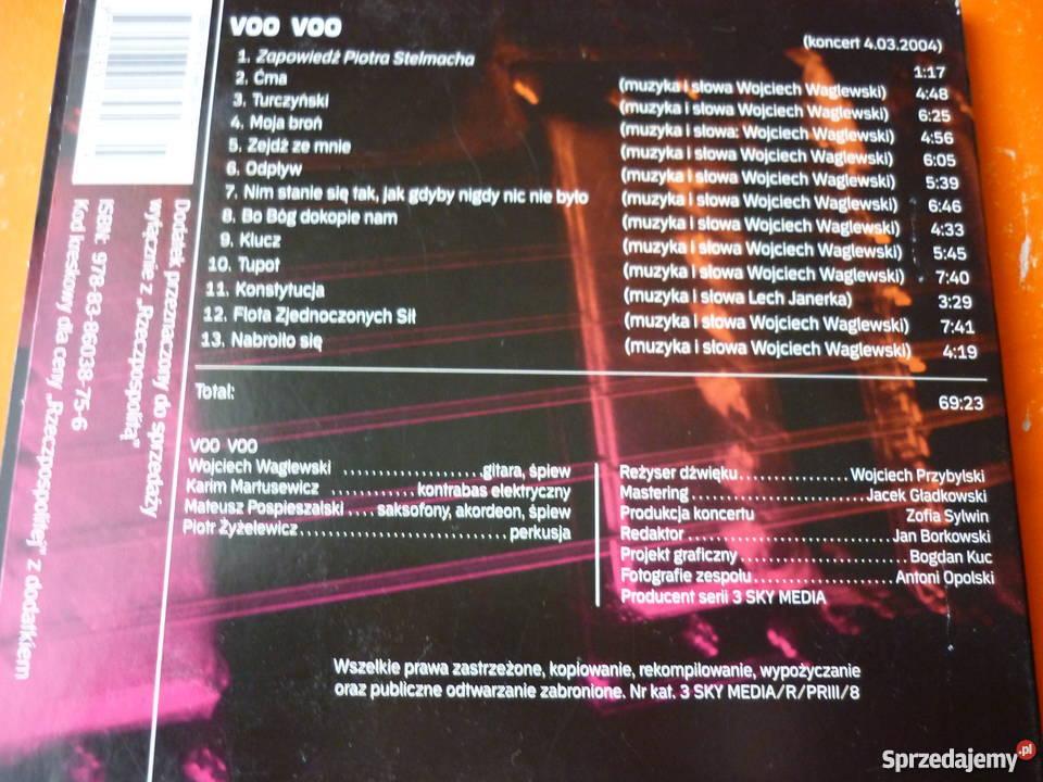 Płyta CD Voo Voo Trójka live Waglewski mazowieckie Warszawa sprzedam