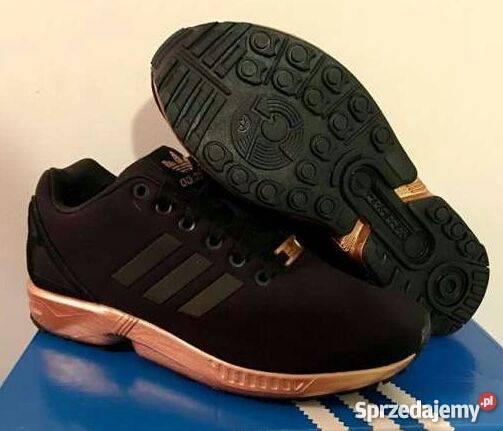 adidas zx flux złote damskie