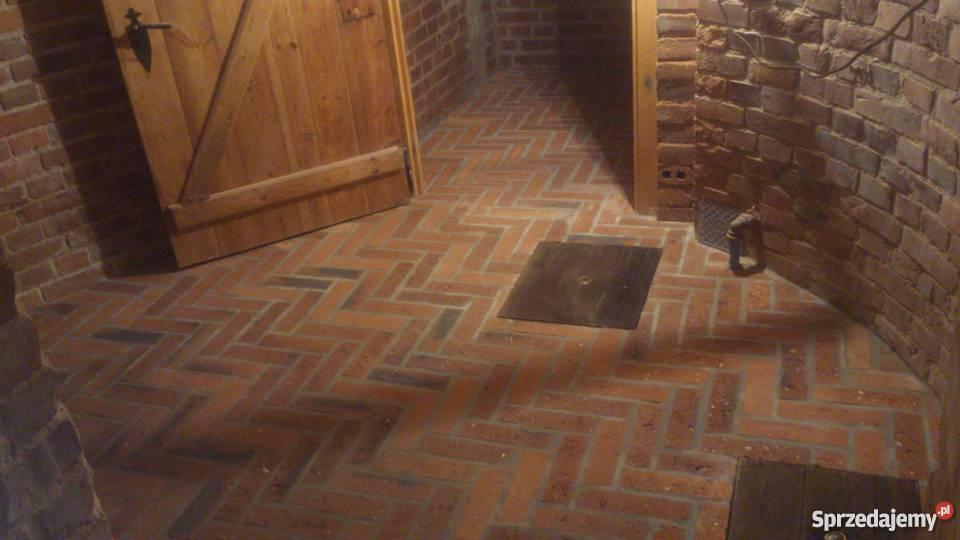 Bardzo dobra Posadzka z cegły, podłoga ceglana, rustykalne płytki podłogo GV06